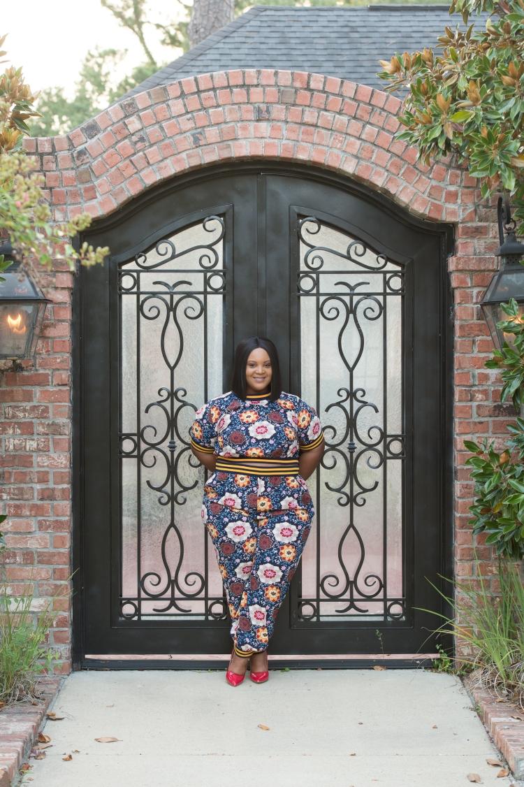 Floral Pant Suit-0219
