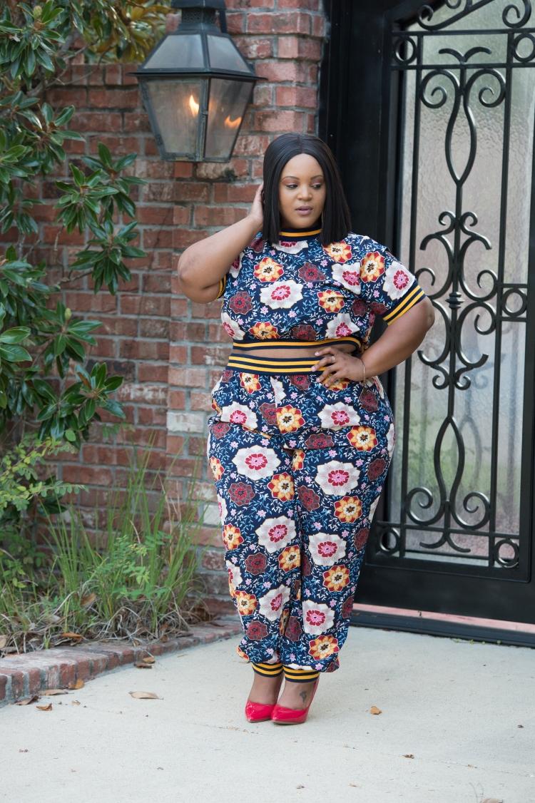 Floral Pant Suit-0226